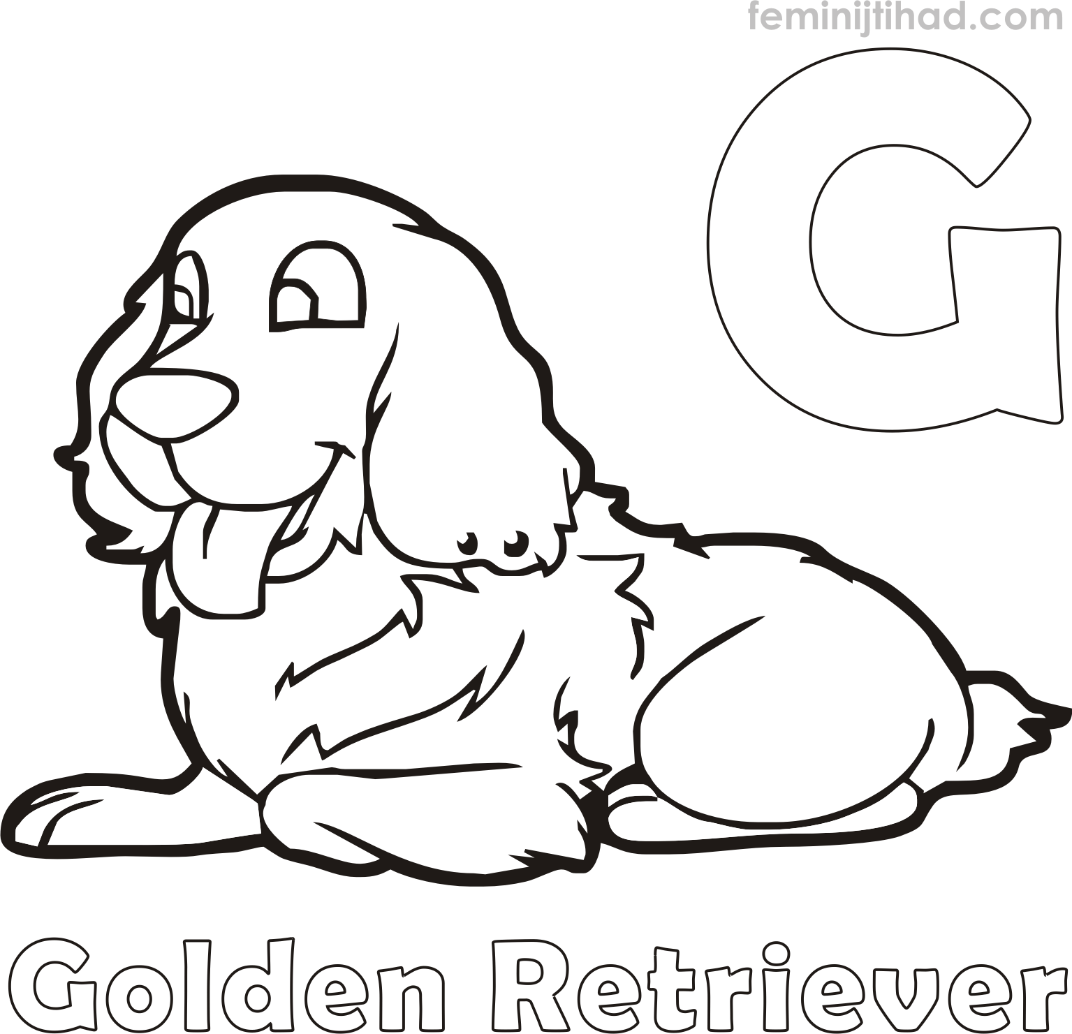 1535x1481 Free Golden Retriever Coloring Pages Coloring Pages For Kids