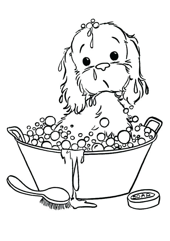 595x842 Golden Retriever Puppy Coloring Pages Printable Retriever Coloring