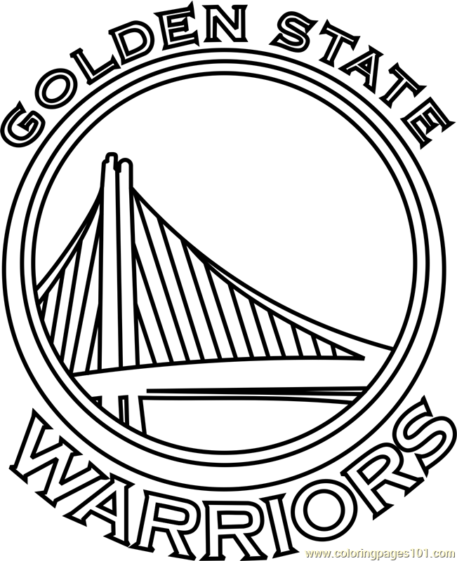 651x800 Golden State Warriors Coloring Page