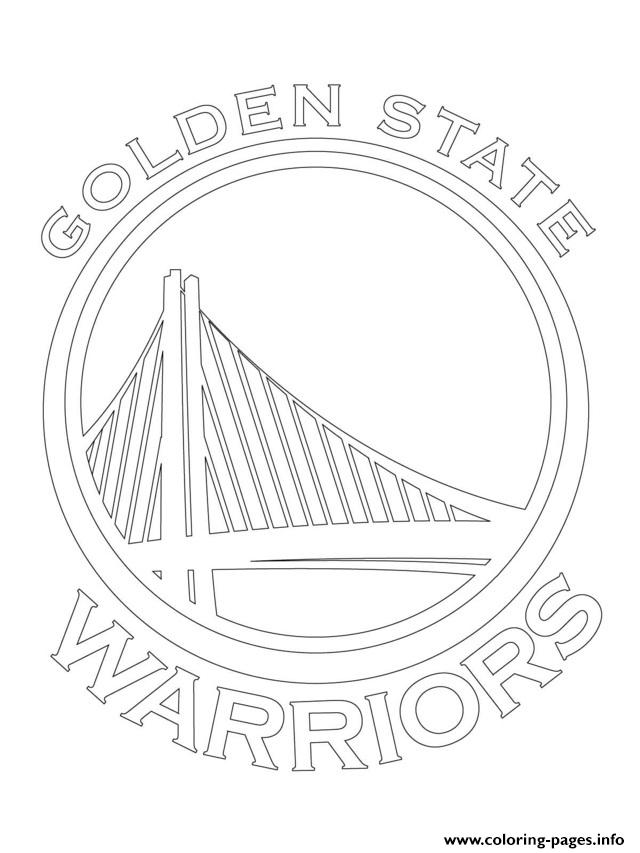 640x853 Golden State Warriors Logo Nba Sport Coloring Pages Printable