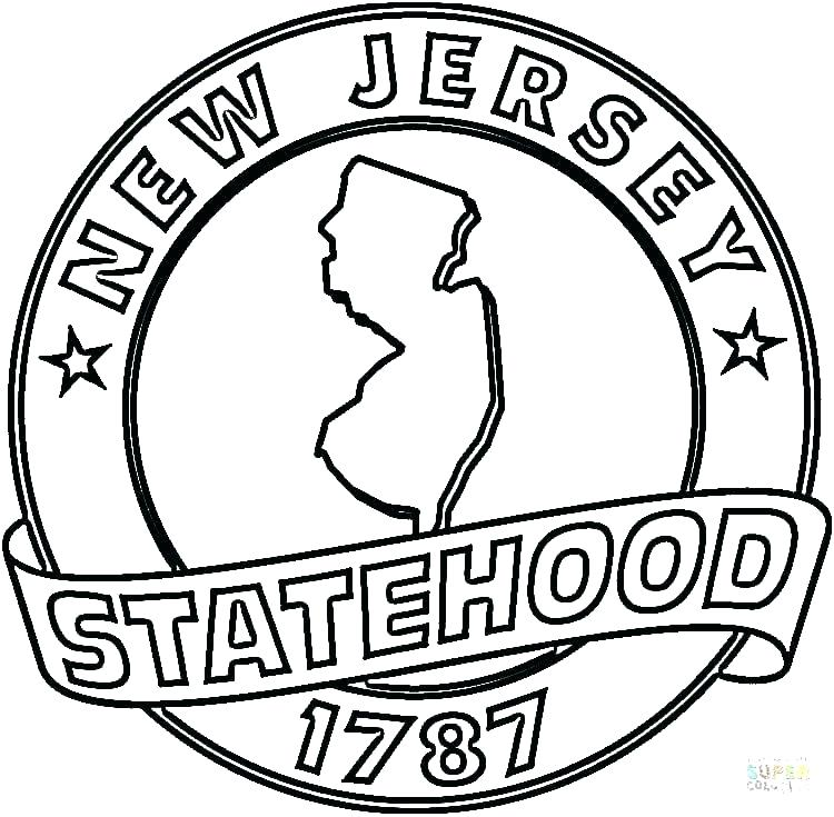 750x735 Nba Coloring Pages Coloring Pages New Jersey State Coloring Page