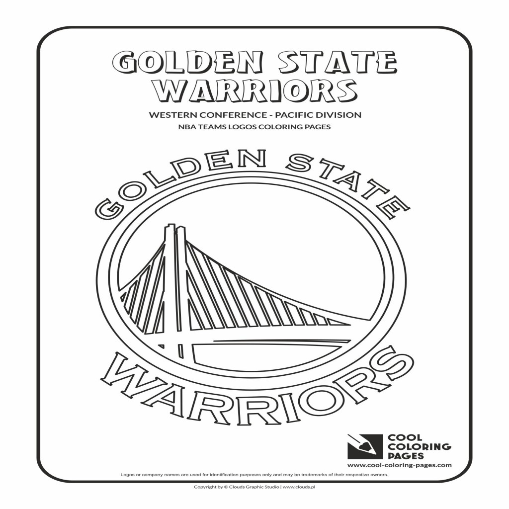 1024x1024 Nba Coloring Pages Printable Image Simple Golden State Warriors