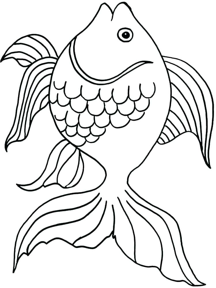 Goldfish Coloring Page at GetDrawings.com | Free for ...