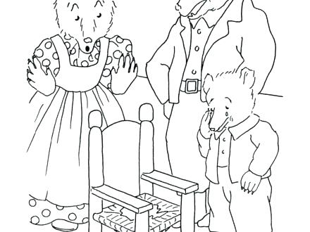 440x330 Goldilocks Coloring Page Coloring Pages And The Three Bears
