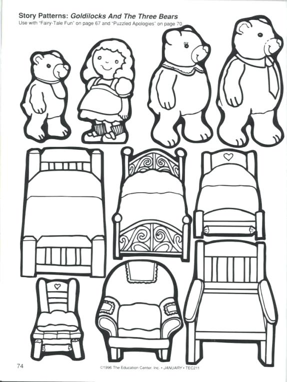 574x765 Goldilocks Coloring Page Preview Goldilocks And The Three Bears