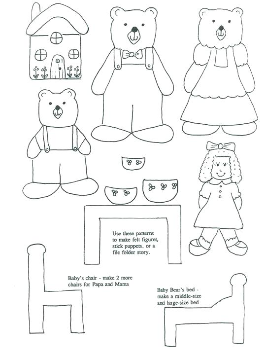 540x724 Goldilocks Coloring Pages Coloring Page Three Bears House