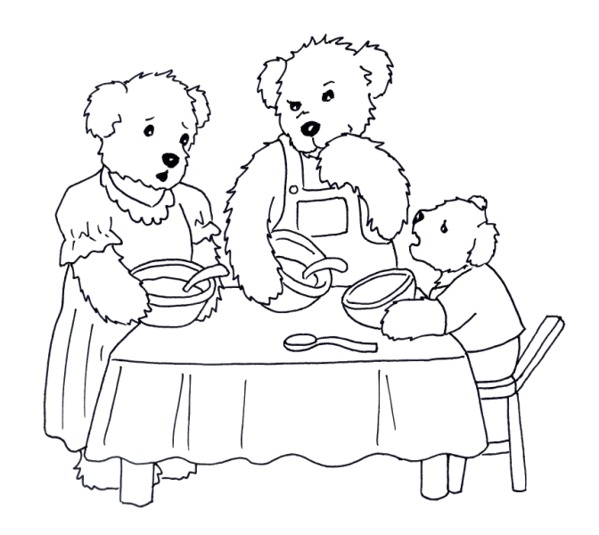 672x600 Goldilocks Coloring Pages Printable