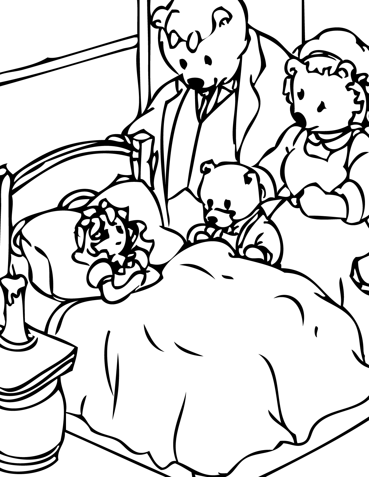 1275x1650 Goldilocks And The Three Bears Coloring Page