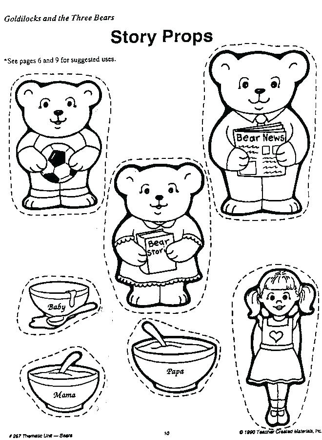 660x900 Goldilocks And The Three Bears Coloring Pages