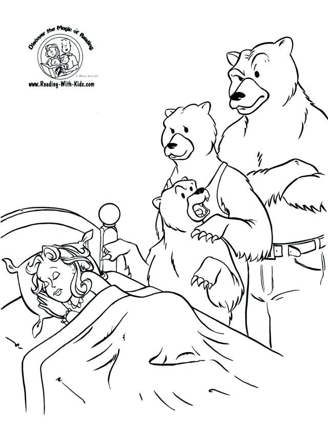 640x826 Goldilocks Coloring Pages