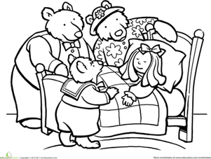 Goldilocks And The Three Bears Coloring Pages Free