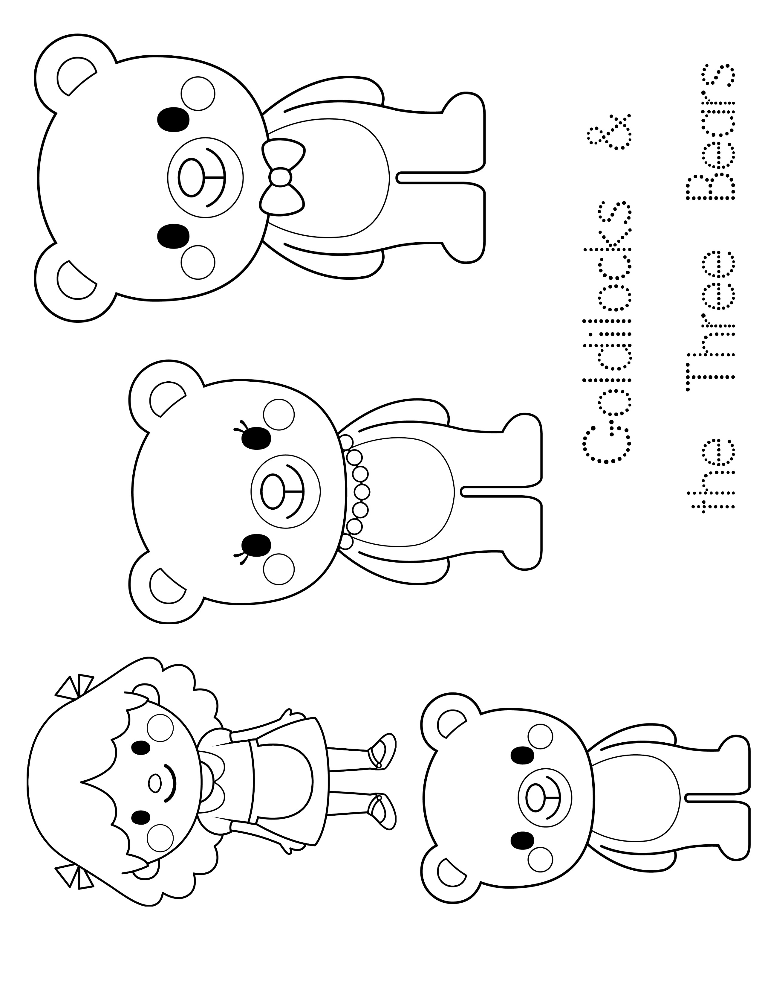 2550x3300 Goldilocks And The Three Bears Coloring Pages Free
