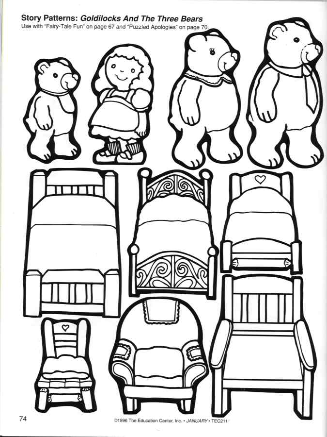 675x900 Goldilocks And The Three Bears Coloring Regarding Pages