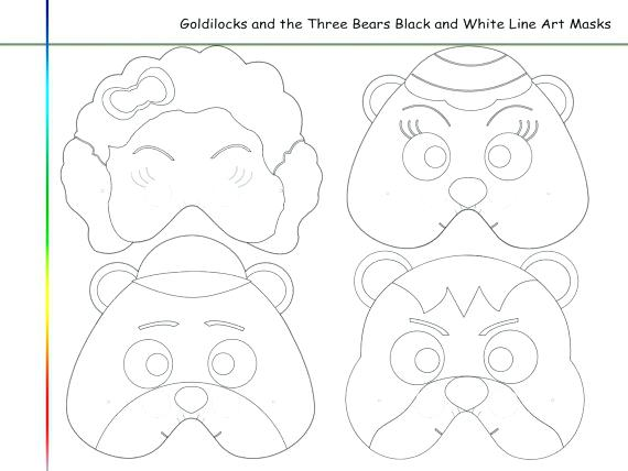 570x428 Goldilocks Coloring Pages And The Three Bears Three Bears Coloring