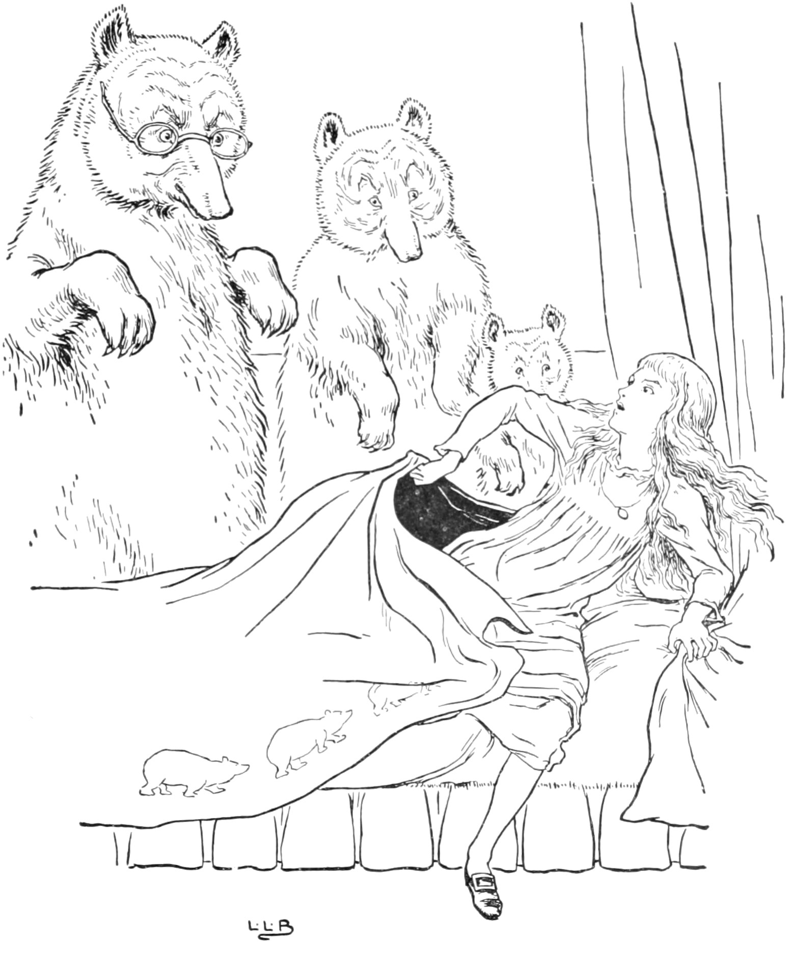 1549x1875 The Story Of The Three Bears Pg