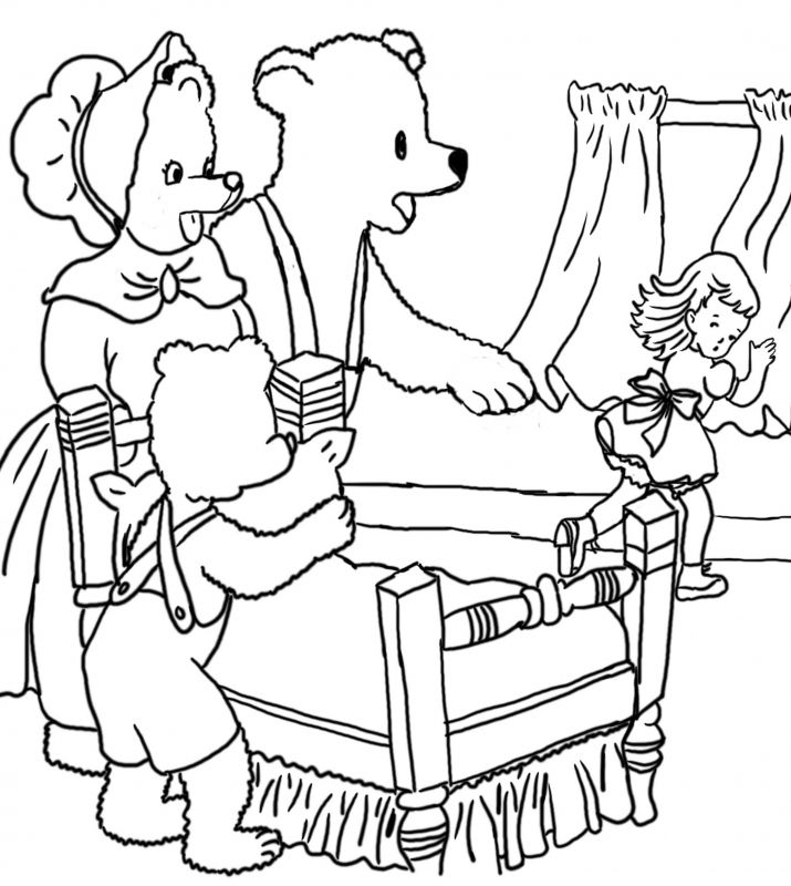 715x800 Printable Coloring Pages Goldilocks Three Bears Coloring Pages
