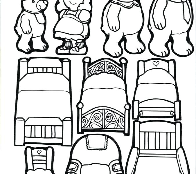 675x600 Goldilocks And The Three Bears Coloring Pages Murs