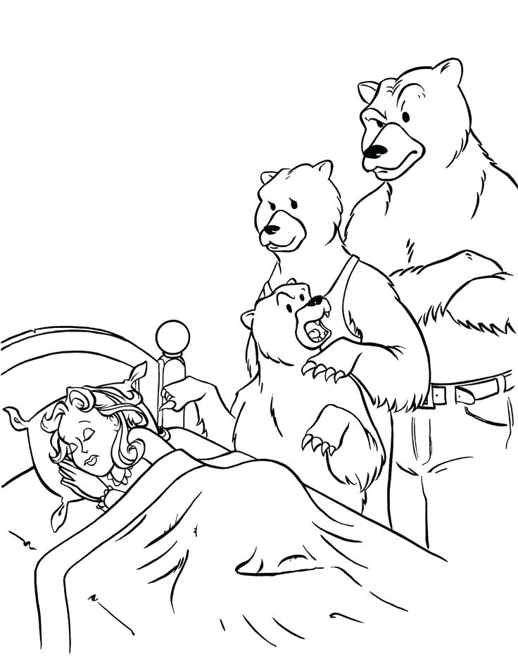 736x949 Goldilocks And The Three Bears Coloring Page And The Three Bears