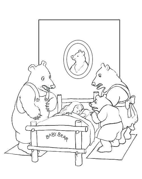 500x628 Goldilocks And The Three Bears Coloring Page Coloring Page