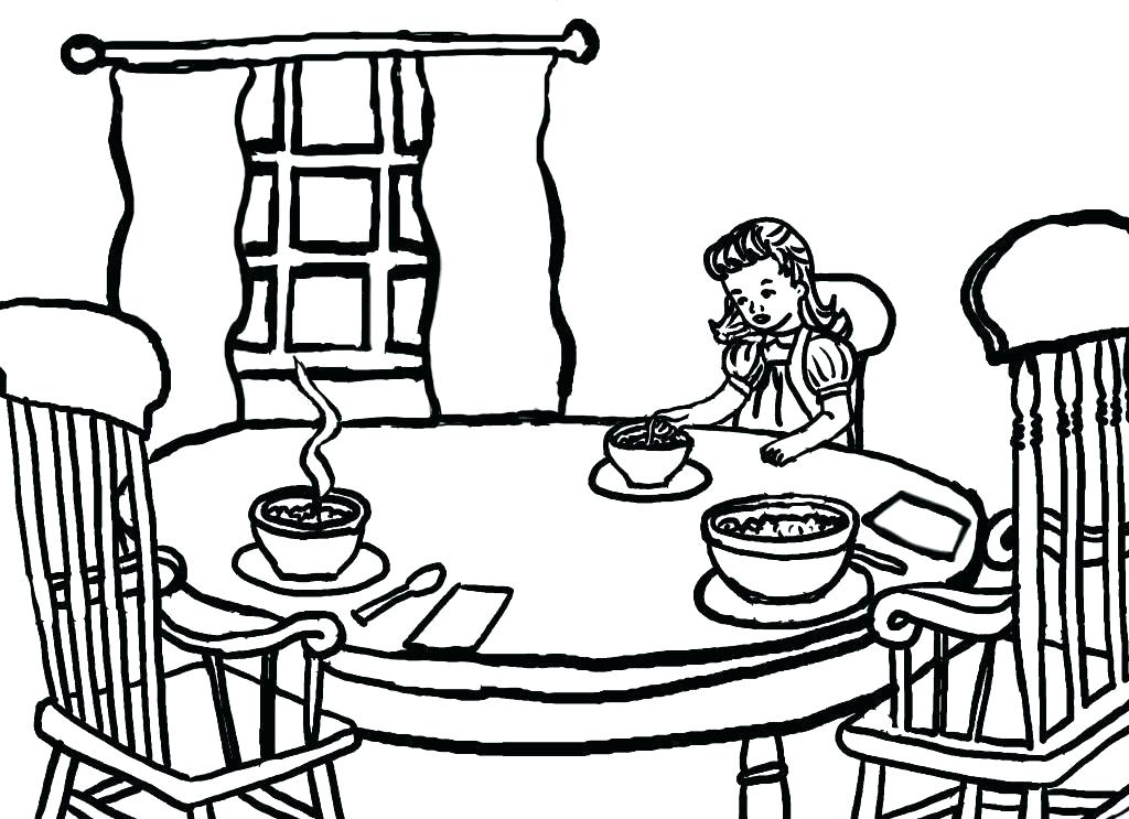 1024x743 Goldilocks And The Three Bears Coloring Page Coloring Pages