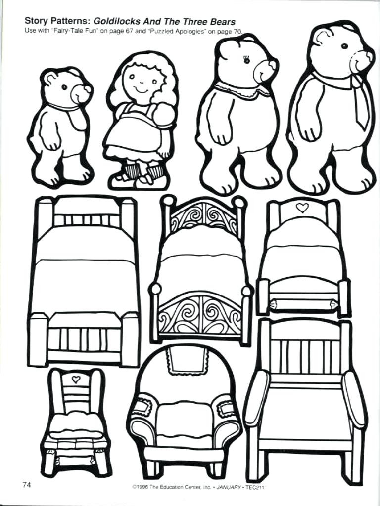 768x1024 Goldilocks And The Three Bears Coloring Pages Awesome Printable
