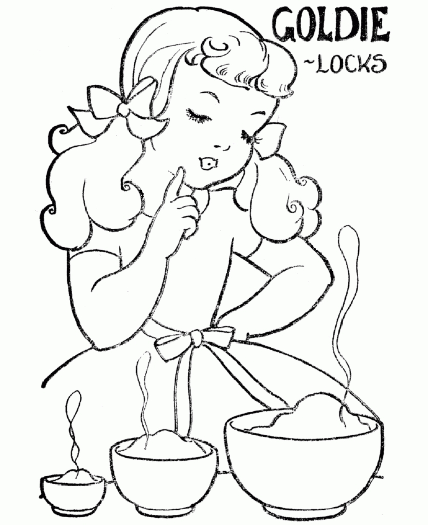 Goldilocks Coloring Pages At Getdrawings Com Free For Personal Use
