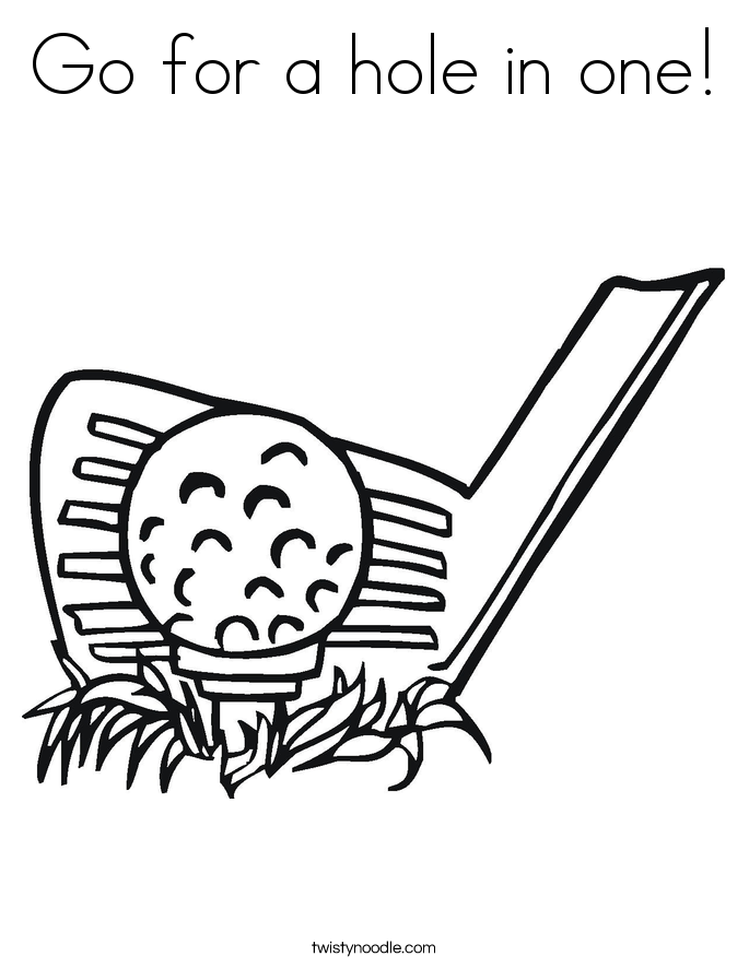 685x886 Go For A Hole In One Coloring Page