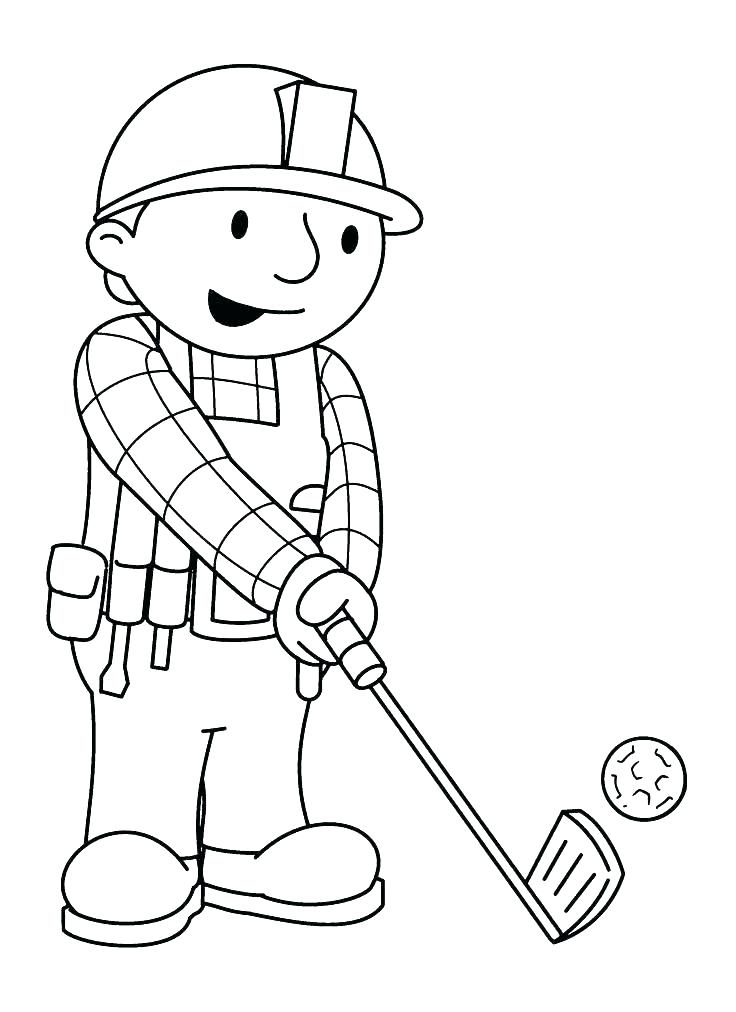736x1012 Golf Coloring Page Golf Coloring Pages With Playing Golf Coloring
