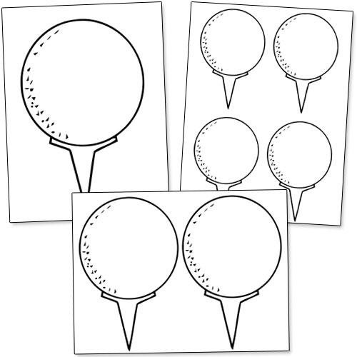 500x500 Printable Golf Balls Printable