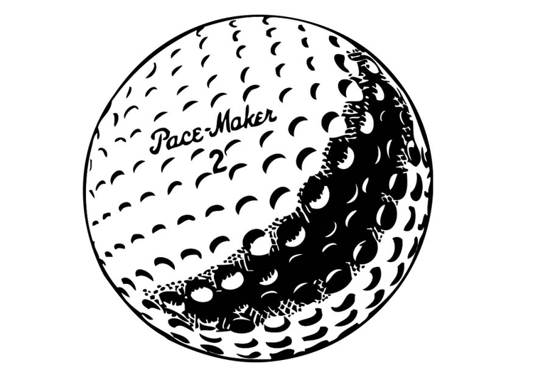 750x531 Coloring Page Golf Ball