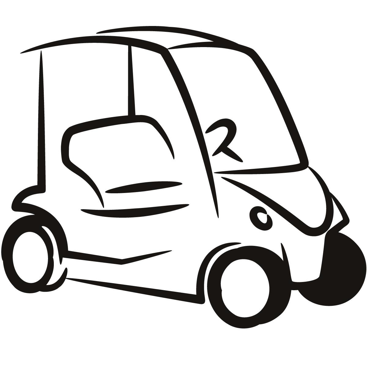 1200x1200 Golf Cart Clip Art