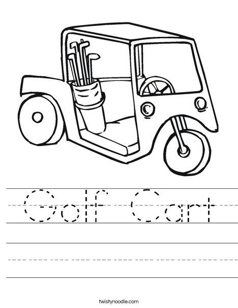 468x605 Golf Cart Worksheet