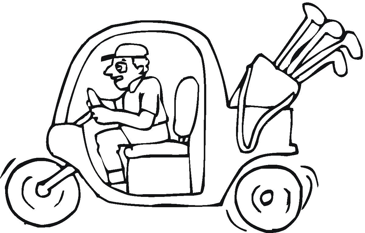 1200x768 Golf Coloring Pages