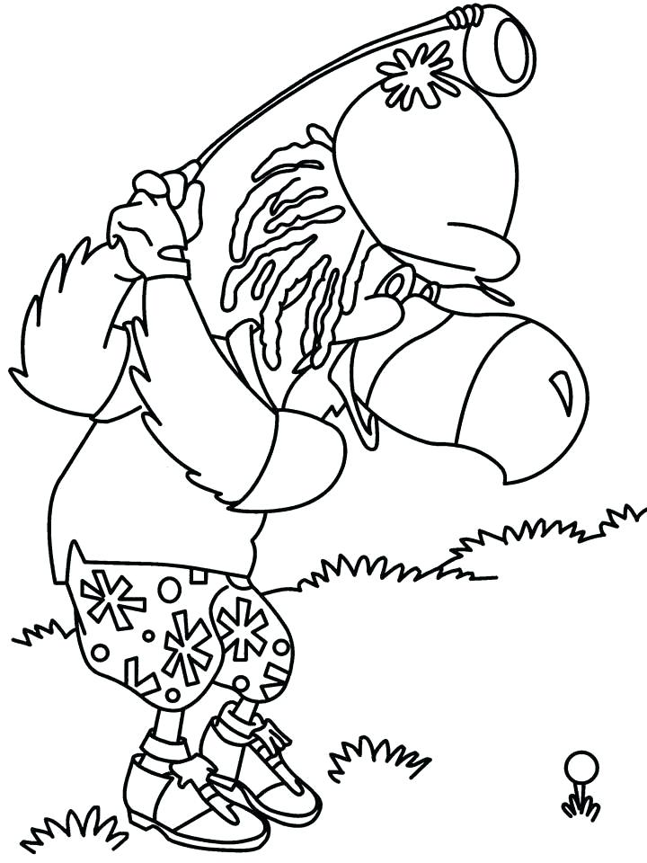 720x960 Golf Coloring Pages Golf Cart Coloring Pages