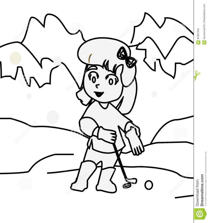 728x777 Golf Coloring Pages Pictures To Print And Color Cart Page Free