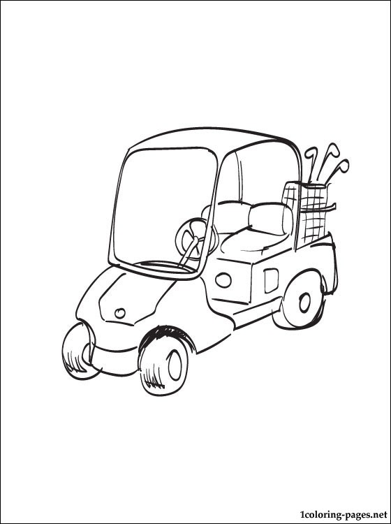 560x750 Golf Cart Coloring Page Coloring Pages