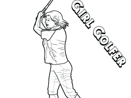 440x330 Golf Coloring Pages