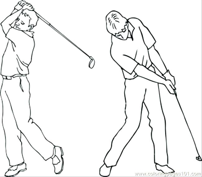 650x569 Golf Coloring Pages Golf Coloring Pages Golf Coloring Pages Adults