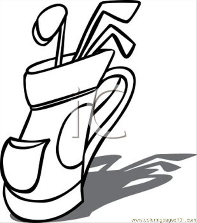 650x736 T Of Golf Clubs Clipart Image Coloring Page