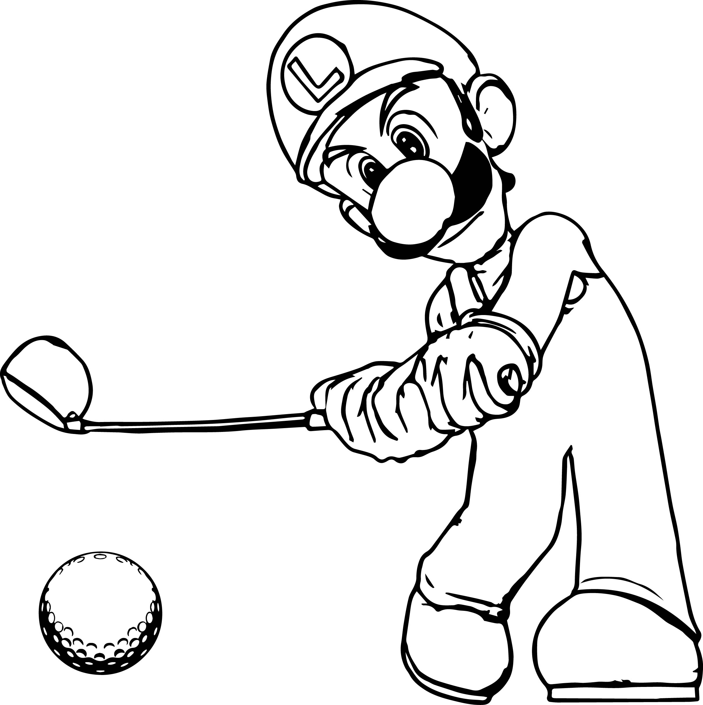 2412x2419 Gallant Golf Coloring Pages Clubs Course Golfers Girl Golfer Sheet