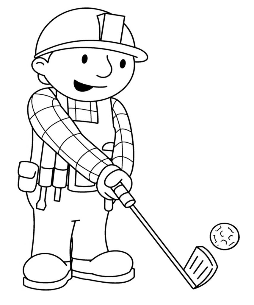 854x1024 Golf Coloring Book Pages Adults Cart Print Course For Kids Minion