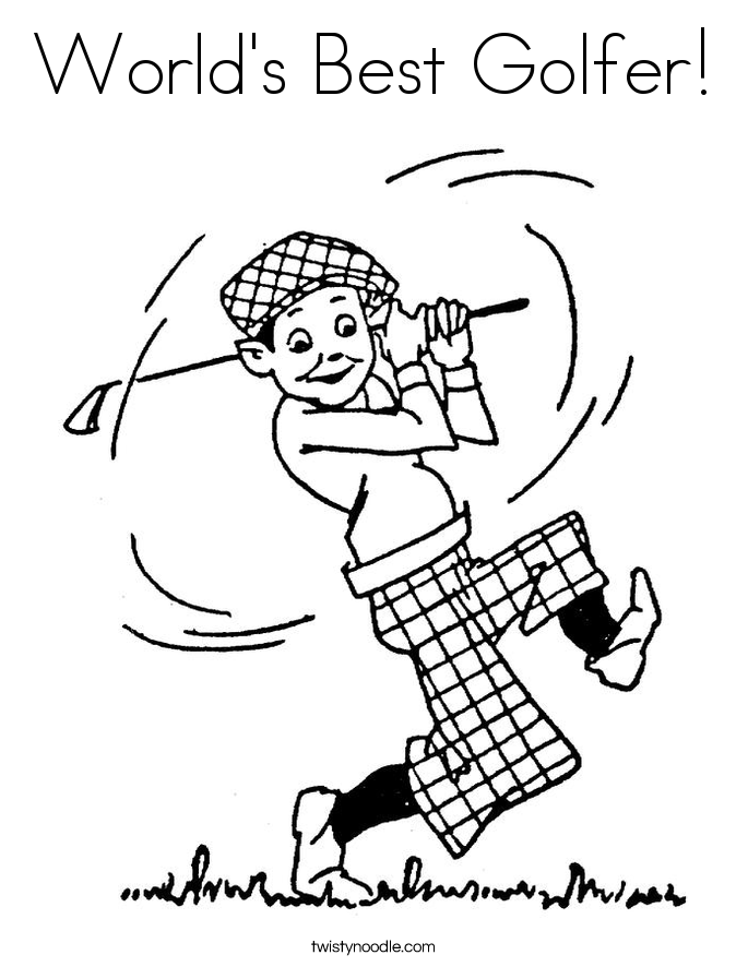 685x886 Golf Coloring Pages
