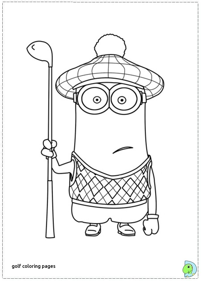 691x960 Golf Coloring Pages