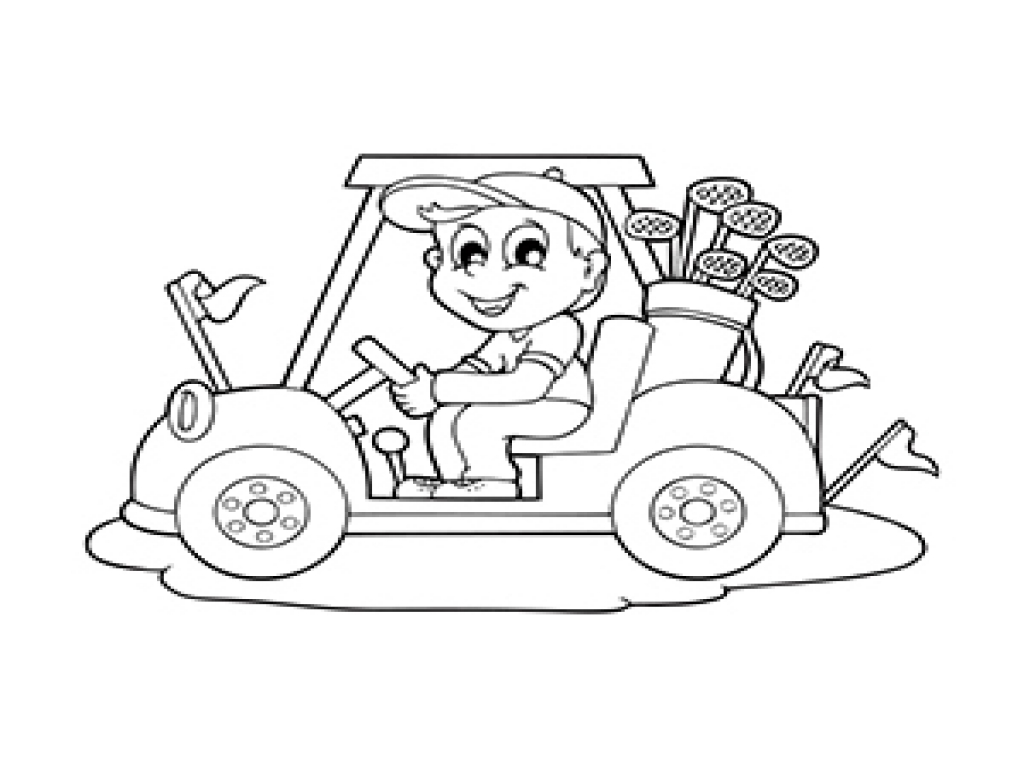 1024x768 Golf Coloring Pages For Adults Car