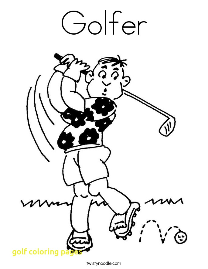 685x886 Golf Coloring Pages With Golf Coloring Pages Twisty Noodle