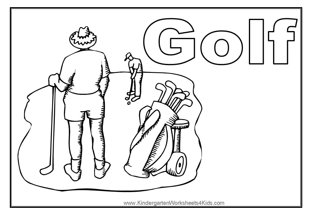 1040x720 Golf Coloring Pages To Download And Print For Free