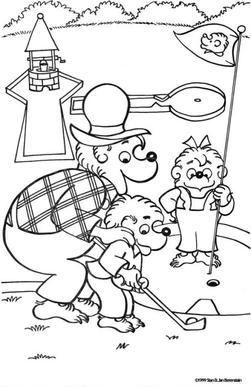 503x775 Mini Golf Berenstain Bears Coloring Page! The Berenstain Bears