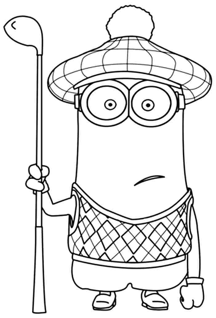702x1036 Minions Coloring Pages Kevin Golf