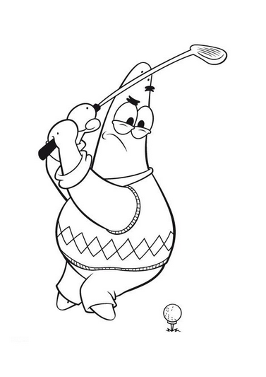 377x533 Spongebob Golf Coloring Page Coloring Book