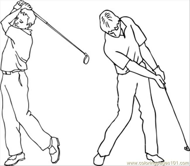 650x569 Stockphotogolf Swing Coloring Page
